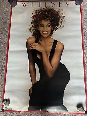 Vintage Whitney Houston Poster 1987 Nancy Greenberg Design Original Poster  • 25£