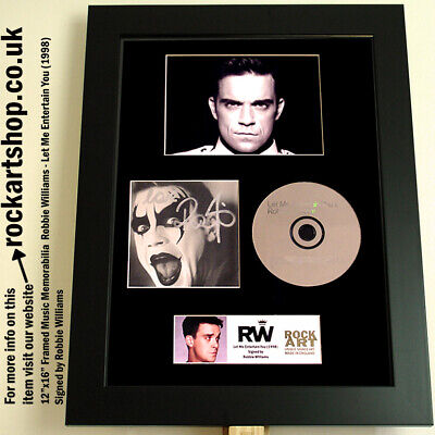 Robbie Williams SIGNED Let Me Entertain You CD AUTOGRAPHED *World Ship TAKE THAT • 149.98£