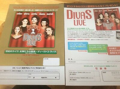 Mariah Carey - Divas Live - Japanese Promo Only Flyer Set. • 20£