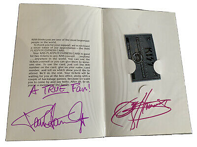 Kiss Signed Vintage Platinum Express Holder & Envelope Owned By Eric Carr! • 225£