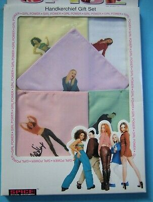 Vintage 1997 SPICE GIRLS Handkerchief Set ~ Unopened Pack ~ Please See Pictures • 12£