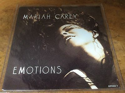 Mariah Carey - Emotions / Vanishing - Dutch 1991 Very Rare 7  Vinyl Single. • 25£