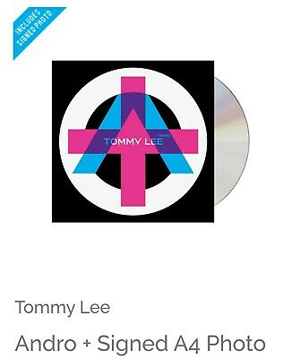 Tommy Lee - Andro CD + SIGNED A4 PHOTO - MOTLEY CRUE  - PRE ORDER • 44.99£