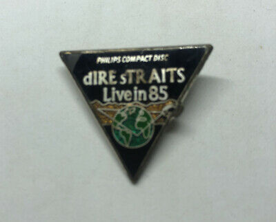 Vintage Dire Straits Enamel Pin Badge 1985 Philips Compact Disc Live In 85 • 25£