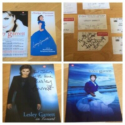 Lesley Garrett - Program & Ticket Stubs Set - Selection SIGNED Extremely Rare. • 45£