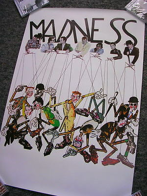 Complete Madness - Original 1982 Madness As Puppets Promotional Poster - Suggs • 4.50£