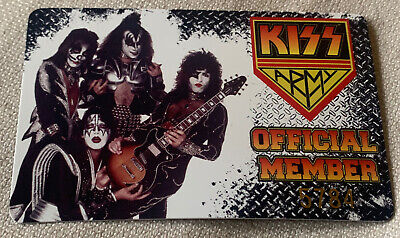 Kiss Army Official Unused Membership Card & Sticker • 10£