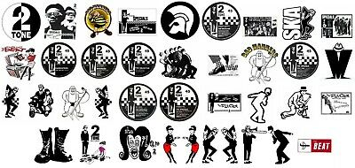 X38 60mm Ska Vinyl Stickers 2Tone Specials Madness Selecter Bad Manners Laptop  • 14.99£