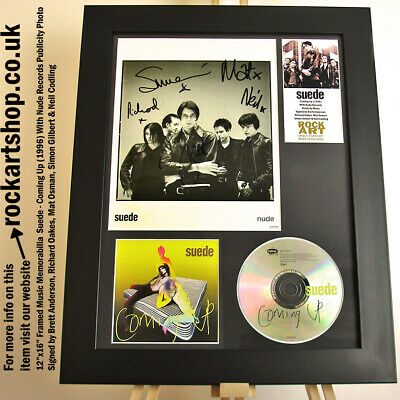Suede SIGNED BRETT ANDERSON+RICHARD+MAT+SIMON+NEIL Coming Up Autographed *WORLD • 229.98£