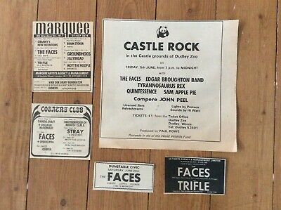 The Faces Rod Stewart Concerts Vintage Music Newspaper Advertisements X 5 • 21.99£