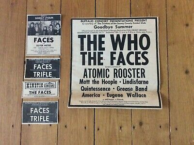The Faces Rod Stewart Concerts Vintage Music Newspaper Advertisements 1970/1 • 21.99£