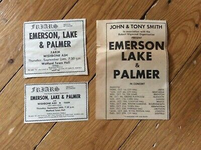 Emerson Lake & Palmer Concert Music Advertisements 1970 X 3 • 15.99£