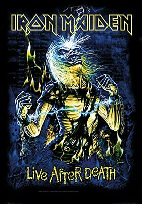 Iron Maiden Live After Death Large Textile Flag 1100mm X 750mm (hr)   • 11.99£