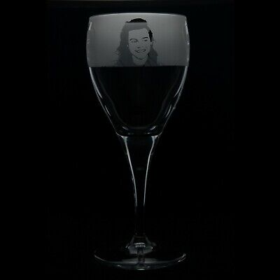 Harry Styles - Engraved Crystal Wine Glass | Gift - Present • 14.99£