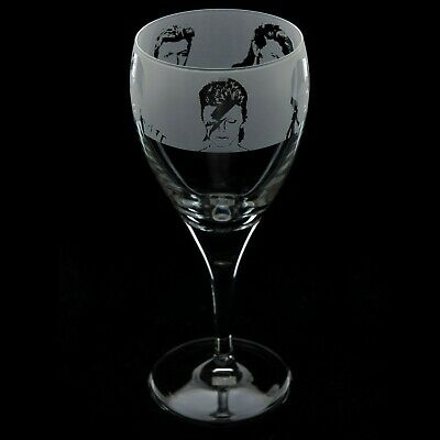 David Bowie - Engraved Crystal Wine Glass | Gift - Present • 14.99£