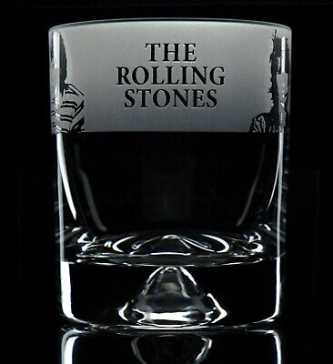 The Rolling Stones - Engraved Whisky Tumbler Glass | Gift - Present • 14.99£