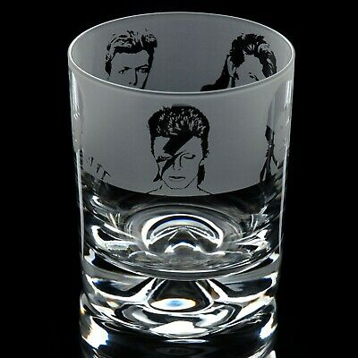 David Bowie - Engraved Whisky Tumbler Glass | Gift - Present • 14.99£