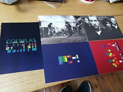 Coldplay 4 X Hmv X&y Postcards Plus Live On Mtv Holographic Card • 4.99£