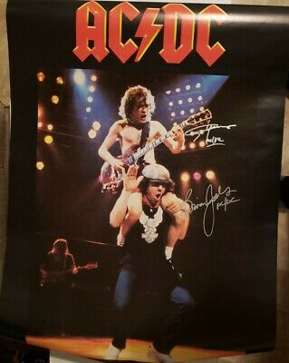 AC/DC Signed Poster ***Flick Of The Switch **1983**Angus Young Brian Johnson ** • 56.28£