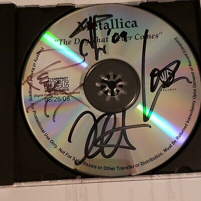 Metallica Signed Promo Cd ** The Day That Never Comes** 4 Members ** • 127.57£