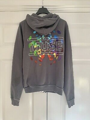 Muse Official Merchandise Hoodie Zipper Jumper Size Small Adult Unisex Grey • 12.50£