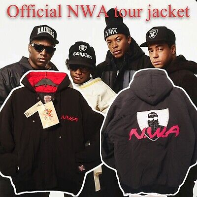 NWA Official Tour Jacket 1991 Rock Embassy Brand Deadstock • 400£