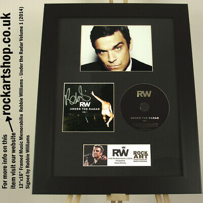 Robbie Williams SIGNED Under The Radar CD AUTOGRAPHED Take That *WORLD SHIP • 159.98£