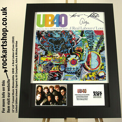 UB40 A Real Labour Of Love SIGNED Ali Campbell +Astro +Mickey Virtue Autographed • 179.98£