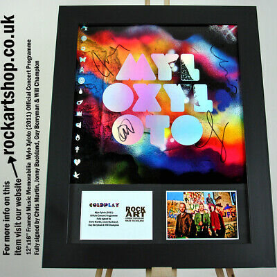 COLDPLAY Mylo Xyloto SIGNED CHRIS MARTIN+GUY +JONNY+WILL Autographed *WORLD SHIP • 279.98£