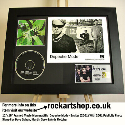 Depeche Mode SIGNED DAVE GAHAN+MARTIN GORE+ANDY FLETCHER Autographed *WORLD SHIP • 429.98£