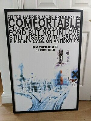 Radiohead Ok Computer Large Framed Poster Print • 40£