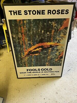 Stone Roses Fools Gold Print On Canvas • 11.90£