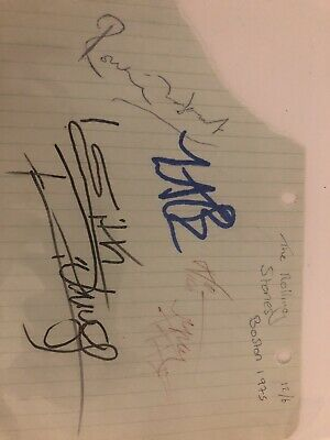 Rolling Stones Autographs (Boston 1975) Jagger, Woods, Watts And Richards • 39.99£