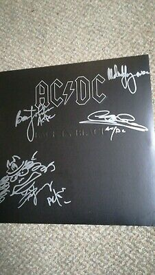 ACDC Back In Black Vinyl LP Signed By Angus Young Brian Johnson Cliff... • 36£