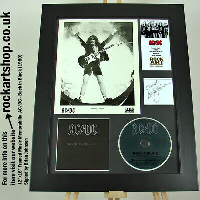 AC/DC SIGNED BRIAN JOHNSON Back In Black Autographed Publicity Photo Angus Young • 269.98£