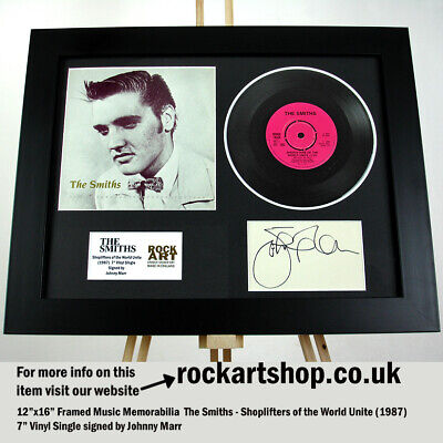 The Smiths SIGNED BY JOHNNY MARR Shoplifters Of The World 7  Vinyl Autographed  • 169.98£