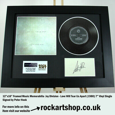 Joy Division SIGNED BY PETER HOOK Love Will Tear Us Apart Autographed WORLD SHIP • 159.98£