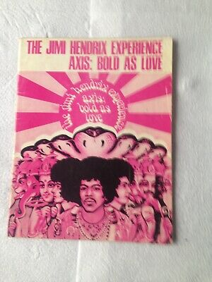 The Jimi Hendrix Experience Axis: Bold As Love - Songbook 1968 • 39.95£
