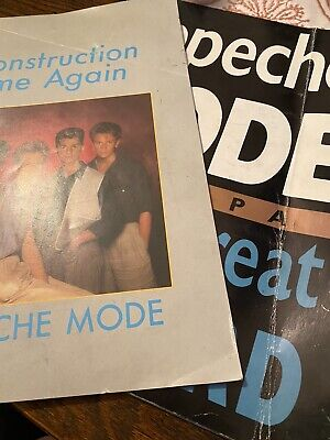 DEPECHE MODE Construction Time Again Tour Concert Programme & Some Great Reward • 25£