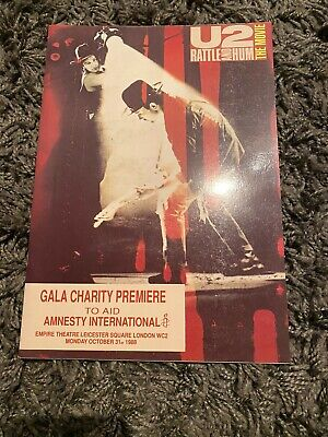 U2 - RATTLE AND HUM THE MOVIE - Leicester Square PREMIER PROGRAMME (Rare) • 29.99£