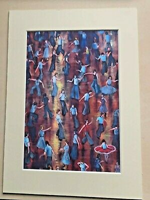 Northern Soul; Wigan Casino;  On The Floor ; Mounted Print • 13.95£