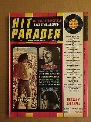 Hit Parader March 1969 Steppenwolf Arthur Brown Eric Clapton Buffalo Springfield • 2.99£