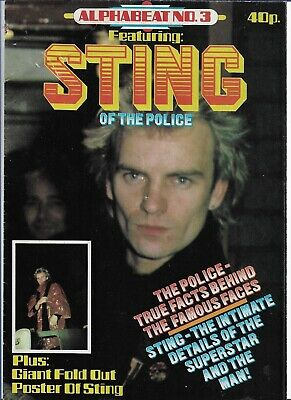 Sting / The Police - Alphabeat No. 3 - Scarce Original Early 80s Magazine  • 7.99£