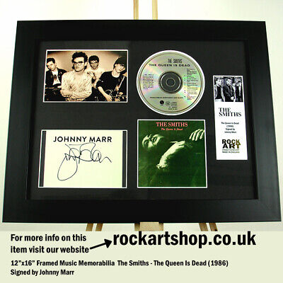THE SMITHS The Queen Is Dead SIGNED BY JOHNNY MARR Autographed Framed WORLD SHIP • 159.98£