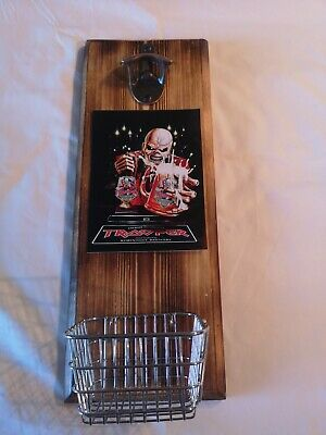 Robinson Iron Maiden Beer Trooper Wall Mounted Bottle Openers With Cap Basket • 15£