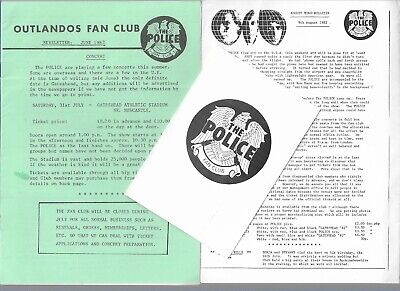 The Police (Sting) - Outlandos Fan Club - Rare 1982 Mags And Membership Card • 19.99£