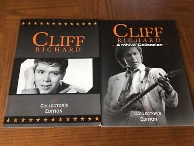 Cliff Richard Collectors Edition & Archive Softcover Books Photos/Poster BUNDLE • 12£