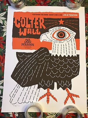 Colter Wall Signed Pickathon Poster Signed By Colter And Artist 25 X 19 • 56.71£