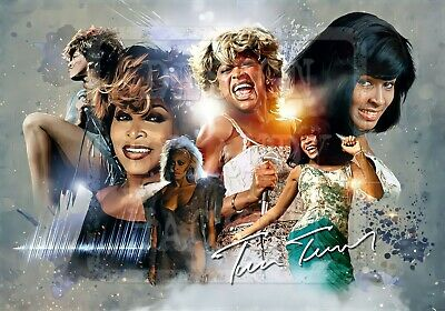 Tina Turner Tribute A3 Poster Print Motown Legend Mad Max Ike Turner Simply Best • 10£