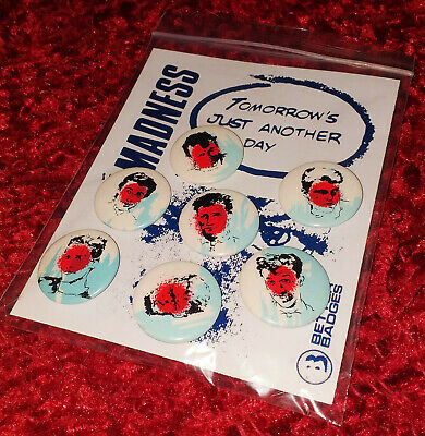 MADNESS - SET OF 7x OFFICIAL PROMOTIONAL BADGE FOR TOMORROW'S JUST ANOTHER DAY • 19.99£
